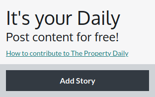 The Property - Your Daily pane with add story button