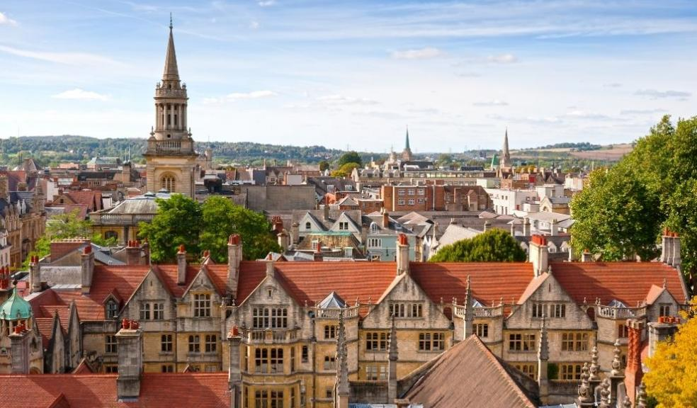 Rooftop view of Oxford, England