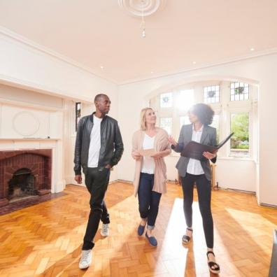 Estate agent house buying viewing
