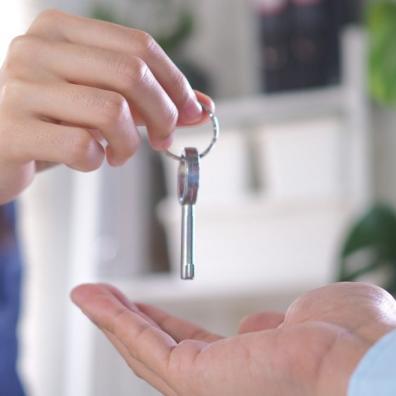 Handing House Keys to Homeowner