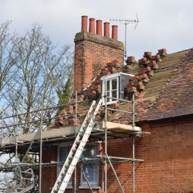 House Roof awaiting repair