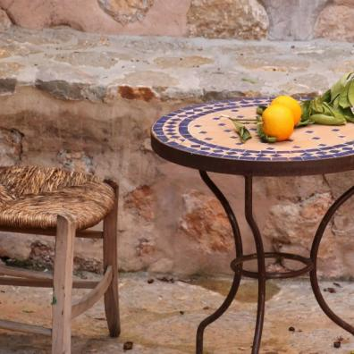 mosaic table and chair